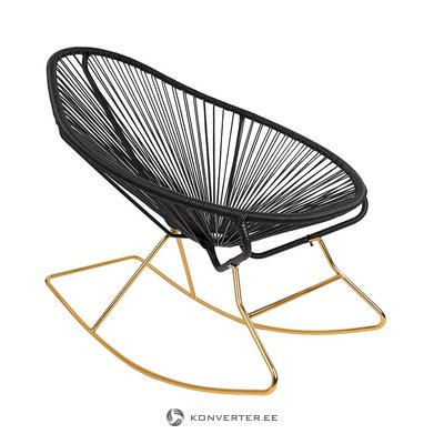 Black design rocking chair (grace)