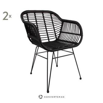 Juodoji sodo kėdė (costa)