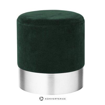 Темно-зелено-серебристая бархатная тульба (харлоу)