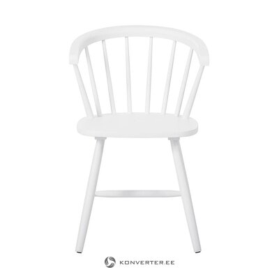 Rubber wooden white chair (jella & jorg) (with beauty defects., Hall sample)
