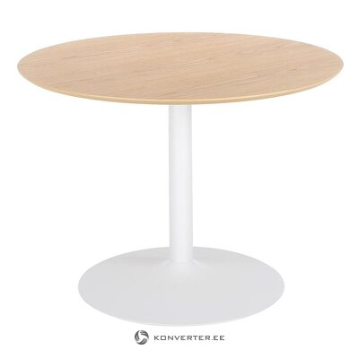 Brown and white round dining table (mallorca)