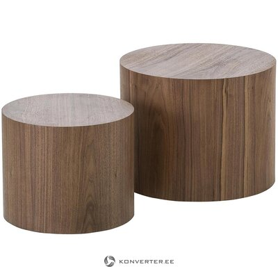 Dark brown coffee table set (dan)