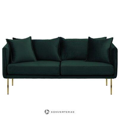 Tumši zaļa samta dīvāns (efeja)