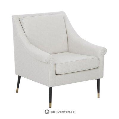 Valkoinen pehmeä nojatuoli (satamamaine)