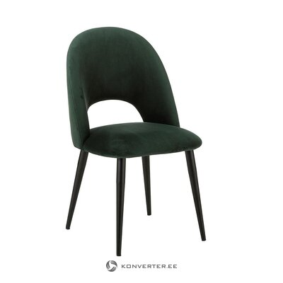 Dark green velvet chair (rachel) (in box, whole)