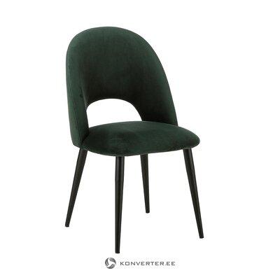 Tumši zaļš samta krēsls (Rachel) (viss zāles paraugs)