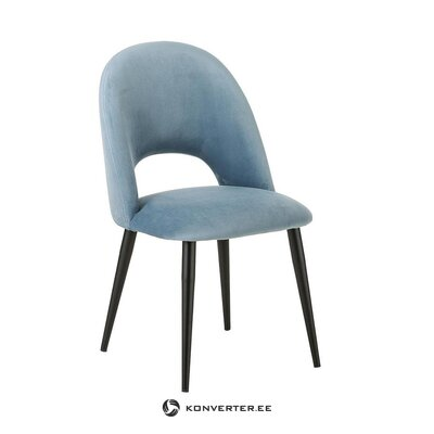 Light blue-black velvet chair (rachel)