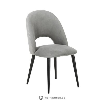 Gray-black velvet chair (rachel) (beauty defect hall sample)