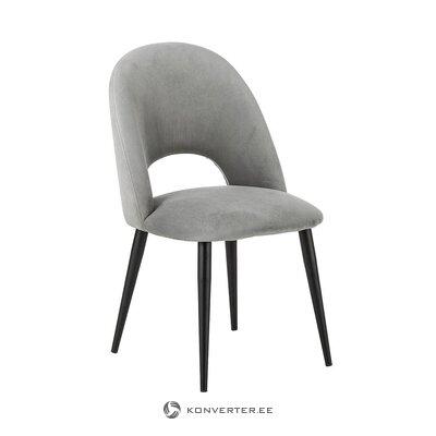 Pelēks-melns samta krēsls (Rachel) (skaistuma defekts zāles paraugs)