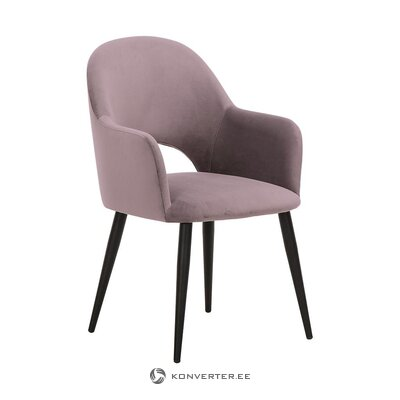 Purple-black velvet chair (rachel) (healthy, sample)