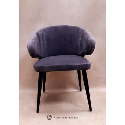 Gray-black velvet chair (rachel) (with defects., Hall sample)