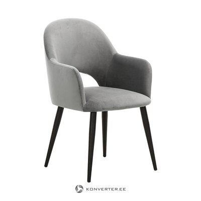 Gray velvet armchair (rachel) (with beauty defect, hall sample)