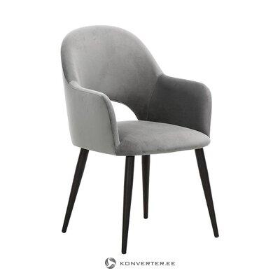 Gray velvet armchair (rachel)
