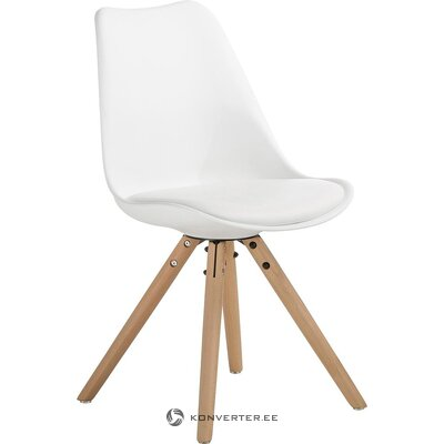 White-brown chair (jella & jorg) (hall sample, with beauty defect,)
