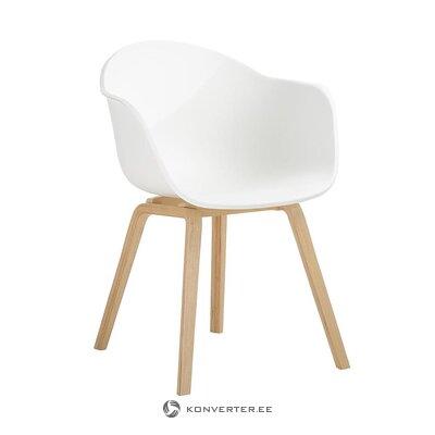 Бело-коричневый стул (клэр) (образец)