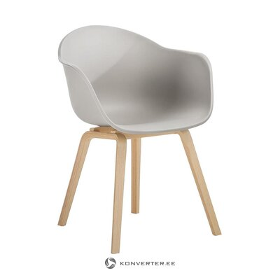 Harmaa-ruskea tuoli (claire) (kauneusvirhe, salinäyte)