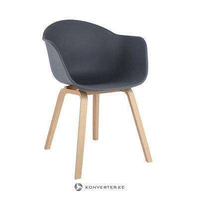 Harmaa-ruskea tuoli (claire) (salinäyte pieni kauneusvirhe)