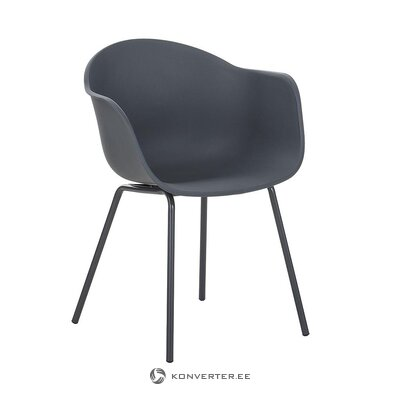 Dark gray chair (claire) (with defects., Hall sample)