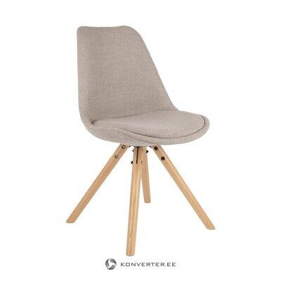 Smėlio spalvos pilka kėdė (jella & jorg) (dėžutėje, visa)