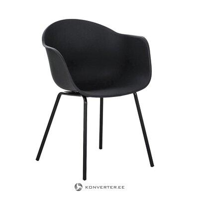 Melns krēsls (Claire) (ar skaistuma defektu, zāles paraugs)