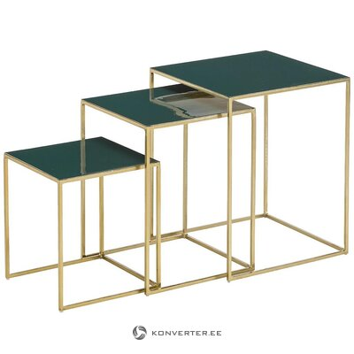 Green-gold set of coffee tables (amalia)