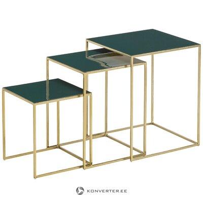 Zaļā zelta kafijas galdiņu komplekts (amālija)