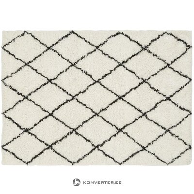 White woolen patterned carpet (tiflet)