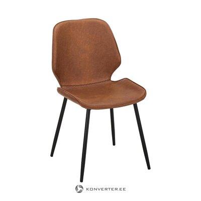 Ruskea-musta tuoli (Jill & Jim) (vika, hallinäyte)