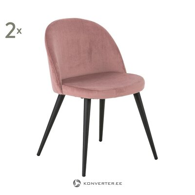 Soft pink velvet chair (anderson)