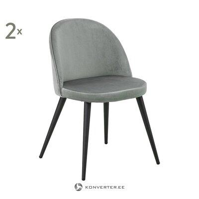 Pelēks, mīksts samta krēsls (anderson) (zāles paraugs, skaistuma defekts)