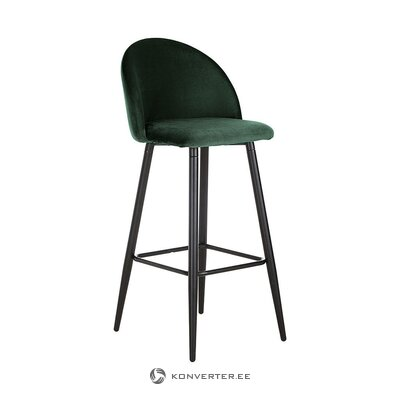 Dark green velvet bar stool (anderson) (whole, in box)