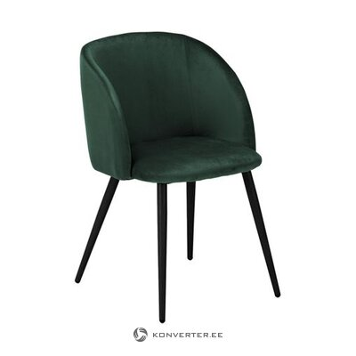 Темно-зеленое бархатное кресло (йоки) (образец холла, небольшой недостаток красоты)