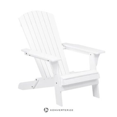 White acacia garden chair (charlie) (whole, in box)