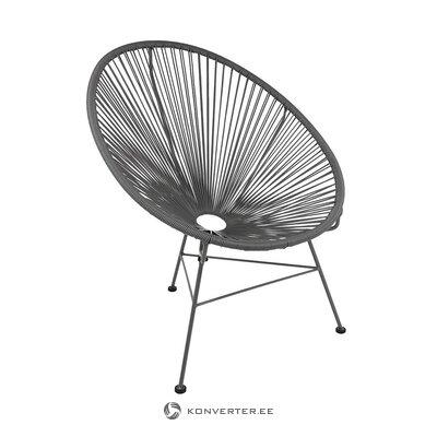 Pelēks dizaina krēsls (bahia) (vesels, zāles paraugs)