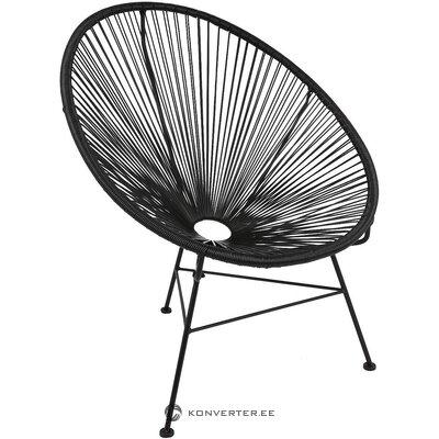Melns dizaina krēsls (bahia) (kastē, vesels)