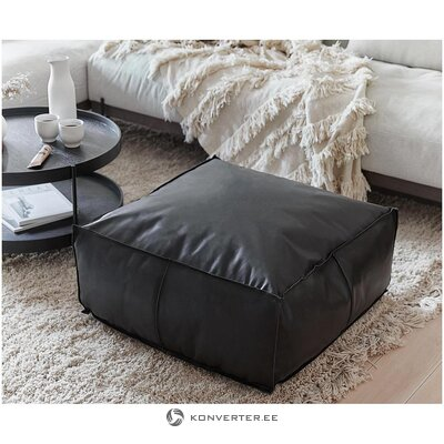 Black leather bag chair (arabica) (whole, hall sample)
