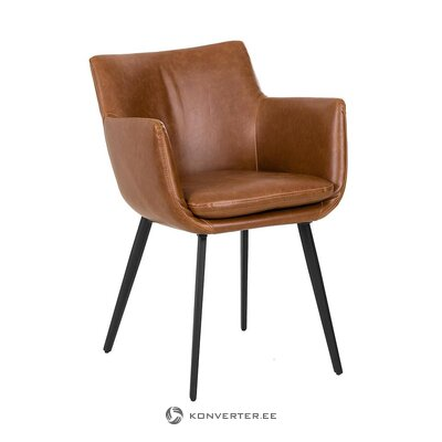 Brown-black leather armchair (jill & jim)