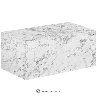 Журнальный столик имитация мрамора (Лесли) (с изъянами., Холл образец)