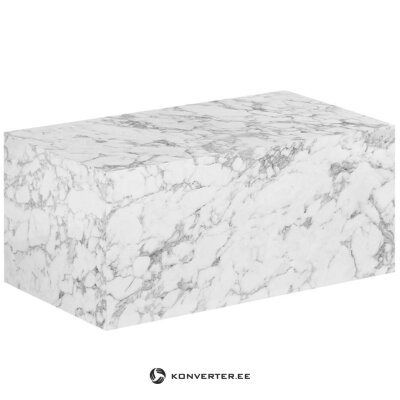 Marble imitation coffee table (lesley) (hall sample, strong defect)