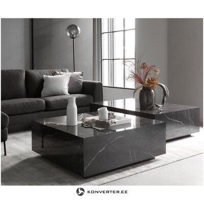 Musta design-sohvapöytä (lesley) (koko, salinäyte)