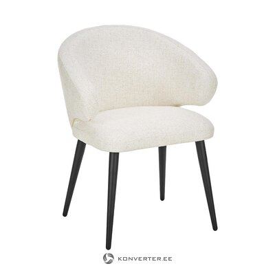 White chair (celia) (with beauty defects., Hall sample)