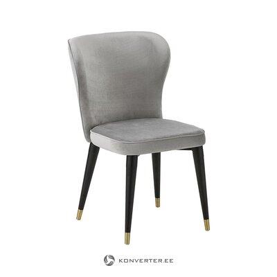 Pilkai juoda aksominė kėdė (Cleo) (sveika, pavyzdys)