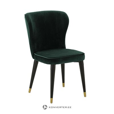 Dark green velvet chair (cleo)
