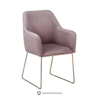 Purple-gold velvet armchair (isla)