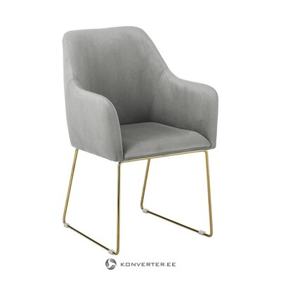 Gray-gold armchair (isla)