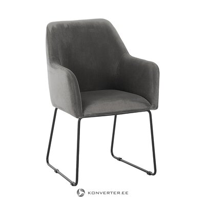 Gray-black armchair (isla) (with defects in beauty hall sample)