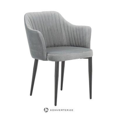 Серо-черное бархатное кресло (Андерсон)