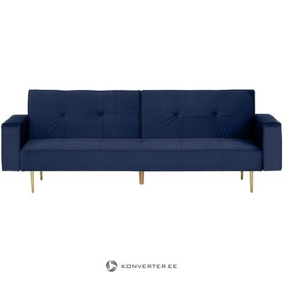 Blue velvet sofa bed (fabāle)