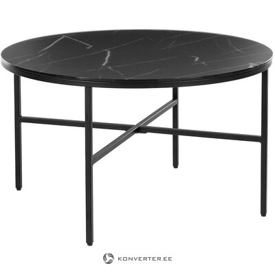 Black marble imitation coffee table (antigua)