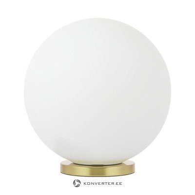 Balta zelta galda lampa (beth) (ar trūkumu zāles paraugs)